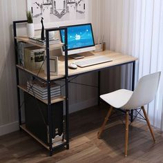 Furniture Of America Mccredmond Silver Industrial Desk Home Office Setup, Home Office Space, Home Room Design, Home Office Design, Small Study Table, Computer Desk Design, Study Table Designs, Rustic Home Offices, Office Furniture Design
