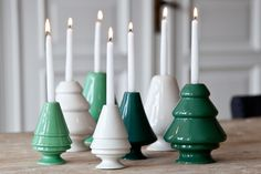 Create a snowy forest with Kähler's white Christmas trees from the Avvento series. The candleholder can be used with Christmas tree candles and matches the other stylish firs of the series. Christmas Tree Candles, White Christmas Trees, Summer Christmas, Noel Christmas, All Things Christmas, Christmas Decorations, Xmas, Ceramic Christmas Trees, Holiday Decor