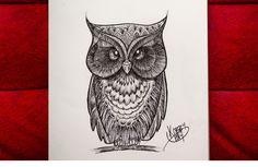 #owl #buho #bird #ink