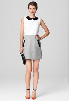 AMANDA COLLAR DRESS - Sale - Shop By Category MILLY NY