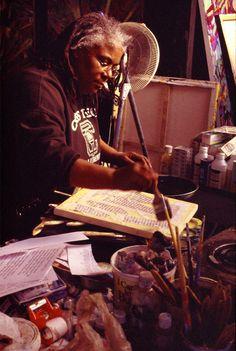 artist gilda snowden in her studio. photo: senghor reid