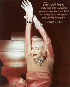 """She said: """"Talk to me Harry Winston, tell me all about it"""" Jewelry: A diamond necklace, worn in the film Gentlemen Prefer Blondes set off perfectly against her pink satin bustier dress. Marilyn Monroe in Gentlemen Prefer Blondes in 1954 Gentlemen Prefer Blondes, Love Picture Quotes, Best Love Quotes, Fabulous Quotes, Awesome Quotes, Harry Winston, Jane Russell, Victoria And Albert Museum, Elizabeth Taylor"""
