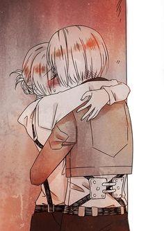 Attack On Titan Comic, Attack On Titan Season, Attack On Titan Ships, Otaku Anime, Anime Manga, Anime Guys, Anime Art, Anime Love Couple, Cute Anime Couples