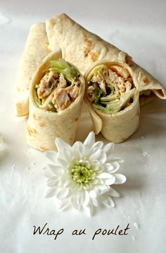 [On déguste] Wrap poulet - Rappelle toi des mets Food Film, Snack Recipes, Healthy Recipes, Healthy Food, Wrap Sandwiches, Mets, Fajitas, Clean Eating Snacks, Finger Foods