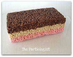 The Partiologist: Neapolitan Rice Krispie Treats!