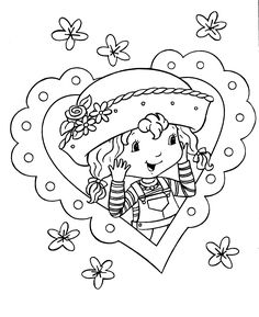 strawberry shortcake, coloring pages