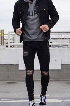 Mens Fall Outfits, Mens Casual Dress Outfits, Black Outfit Men, Cool Outfits For Men, Summer Outfits Men, Stylish Mens Outfits, Stylish Clothes For Men, Men Summer, Black Outfits