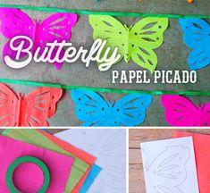 Beautiful butterfly papel picado decoration for fiesta or wedding! #cincodemayo #papelpicado