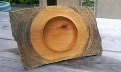 Decorative Turned Oak Bowl - Made from Salvaged Wood