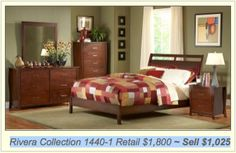 This lovely #bedroom #set shown on www.dallasdiscountmattress.com/furniture #Rivera #Collection 1440-1 Retails $1,800 ~ Sells $1,025