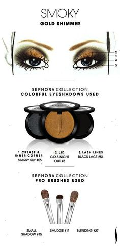 SMOKY: Gold Shimmer HOW TO. #sephoracollection #sephora #eyeshadow