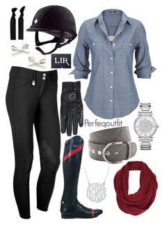 """A little bit of red"" by ponylover42 ❤ liked on Polyvore featuring Michael Kors, Silver Jeans Co., Topshop, Kate Spade and Sephora Collection"