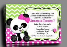 Panda Invitation Printable - Birthday, Baby Shower - Bamboo Panda Love Collection on Etsy, $15.00