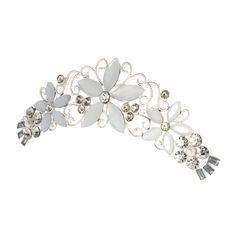 Frosted Flower Hair Comb