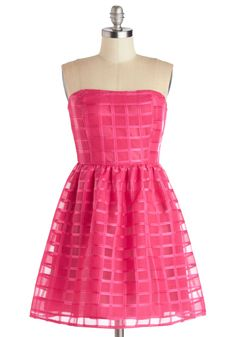 Been There, Fun That Dress | Mod Retro Vintage Dresses | ModCloth.com [love the patterned overlay!]