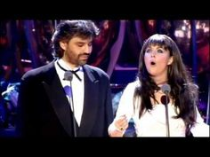 Sarah Brightman & Andrea Bocelli - Time to Say Goodbye (1997) [720p] - YouTube  Beautiful duet that my friends and I grew up loving and singing- love their voices and so wonderful how a blind man could pursue his dreams and sing like this ~