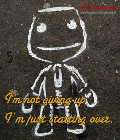 I'm not giving up I'm just starting over. - Zitat von Die #TagesRandBemerkung #TRB #Zitate #Quotes #ZitatDesTages #QuoteOfTheDay
