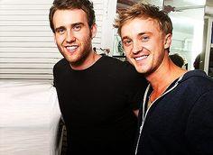 Neville and Draco...Matthew Lewis Tom Felton