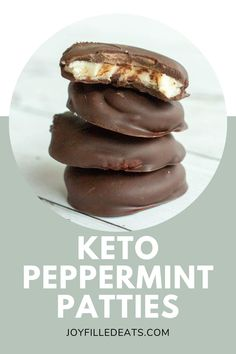 This Homemade Peppermint Patties Recipe puts Yorks to shame. With a creamy minty filling and a rich chocolate coating, you won't miss that packaged treat. This low carb, keto, sugar-free version is the perfect holiday treat!
