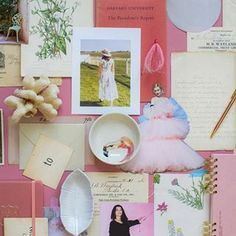 """Pink poofy dresses and flamingos💗. A perfectly pink mood board with our """"Darcey"""" fabric. 📷: @verryrobin_co"""