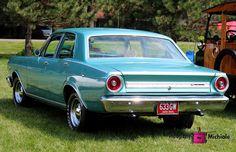 1966, ford, falcon, blue, car, auto, vehicle, photography,  card, print, canvas, vintage, classic, (title: Agnes II)