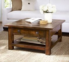 Benchwright Square Coffee Table #potterybarn Ender FR cocktail table choice