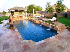With a couple design guidelines, you can produce your pool the ideal hideaway. A pool can be constructed in virtually any size yard. A huge swimming pool sits at the conclusion of the backyard garden. Luxury Swimming Pools, Luxury Pools, Dream Pools, Swimming Pools Backyard, Swimming Pool Designs, Lap Pools, Indoor Pools, Pergola Design, Patio Pergola