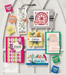 Stampin' Up! New Catalog Sneak Peek: Painted Glass stamp set + Stained Glass Designer Vellum