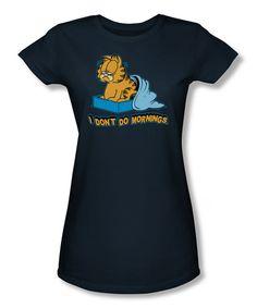 Navy Garfield 'I Don't Do Mornings' Tee - Women  Plus