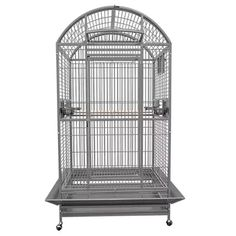 A spacious cage for Parrots. #cage #parrotcage Parrot Stand, Parrot Bird, Parrot Cages, Parrot Toys, King Cage, Bird Breeds, Large Bird Cages, Porch Doors, African Grey Parrot