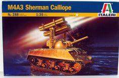 M4A3 Sherman Calliope Italeri 288 World War II Tank 1/35 Scale – Shore Line Hobby