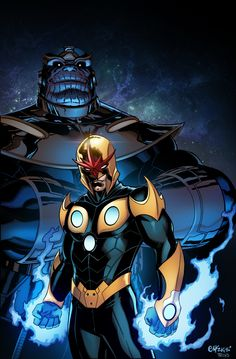 Nova prime by deffectx Marvel Comics, Comics Anime, Hq Marvel, Dc Anime, Dc Comics Superheroes, Marvel Comic Universe, Fun Comics, Marvel Heroes, Marvel Cinematic