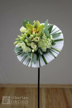 """Bouquet • Design: The """"Siberian orchid"""" School of Floristry from Russia"""