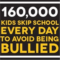 kids skipping school everyday because of bullying is too many. Stop the bullying: www.o… Source by dosomething Stop Bullying Now, Anti Bullying, Bullying Quotes, Bullying Lessons, Mental Health Resources, The Victim, School Counseling, Self Esteem, It Hurts