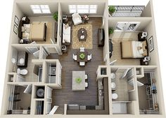 Bedroom Apartment Floor Plans On Apartments With Two .
