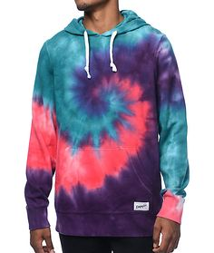 Get some far out style in the Deadhead bright tie dye hoodie from Empyre. The…