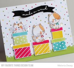 Card Kit, I Card, Cute Birthday Cards, Cut Image, Mft Stamps, Cat Cards, Cardmaking, Embellishments