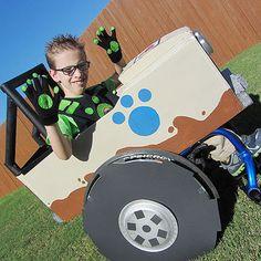 Wild Kratts driving the Createrra wheelchair costume