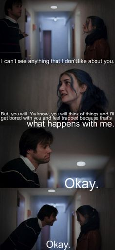 Eternal Sunshine of the Spotless Mind. One of my favorite movies.