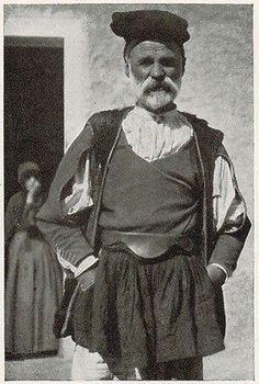 Nuoro - Mamoiada - Costume - Stampa antica - 1934 old print