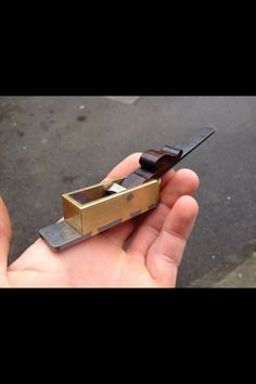 Stunning mini mitre plane made by ollie sparks, he makes similar plane to bill carter. A very skilful man. Not the Damascus steel :)