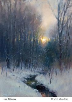 Last-Glimmer, John MacDonald Painting Snow, Winter Painting, Winter Art, Large Painting, Winter Snow, Winter Landscape, Landscape Art, Landscape Paintings, Small Paintings