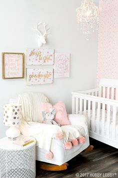Sweet pops of pink make this space fit for a princess!