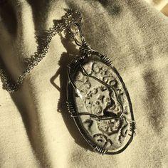 #wirewrap #skulls #necklace done in #white #raku #glazed #pottery    #handmadejewelry Glazed Pottery, Serendipity, Wire Wrapping, Skulls, Pocket Watch, Handmade Jewelry, Accessories, Shopping, Collection