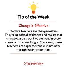 TeacherVision Teaching Tip of the Week: Change is Effective   TeacherVision.com