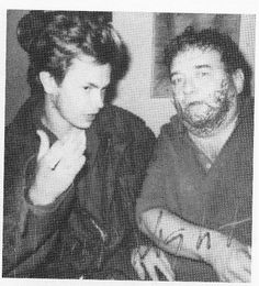 "River Phoenix and Bob Pitchlynn (the real falstaffian character that ""Bob in MOPI was based off of) during a break during filming MOPI. River drew a beard on Pitchlynn's face and wrote ""Hump Night"" on the photo as a joke."