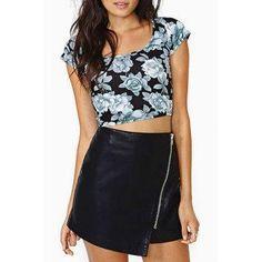 DressLily - Dresslily High Waisted Packet Buttocks Zippered PU Leather Skirt - AdoreWe.com