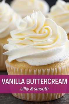 the best Vanilla Buttercream Frosting with this simple fool-proof recipe!Make the best Vanilla Buttercream Frosting with this simple fool-proof recipe! Food Cakes, Cupcake Cakes, Best Frosting For Cupcakes, Easy Icing Recipe, Best Icing For Cupcakes, 12 Cupcakes, Vanilla Icing Recipe, Cupcake Frosting Recipes, Best Butter Cream Frosting Recipe