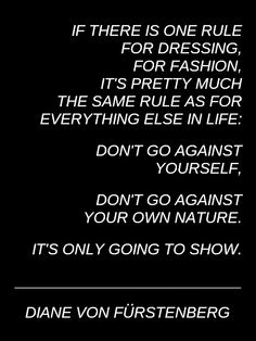 Diane von Furstenberg fashion #quote
