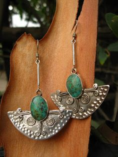 killari: ARETES DE PLATA Metal Clay Jewelry, Enamel Jewelry, Copper Jewelry, Leather Jewelry, Turquoise Jewelry, Stone Jewelry, Wire Jewelry, Boho Jewelry, Jewelry Art